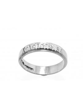 Pierścionek z białego złota z diamentami 0.05ct. H/SI-8/8 masa 3.700g.750 z certyfikatem