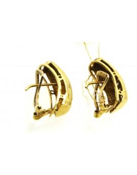 Kolczyki złote z diamentami 0.23ct.H/SI 5.800g. 585 z certyfikatem.