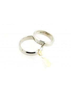 Obrączki z białego złota 4.6mm. 11.550g. 750