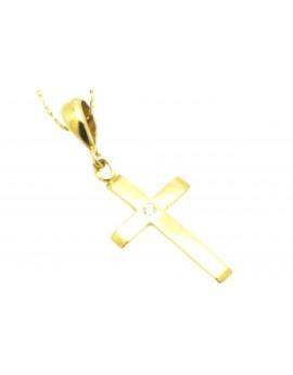 krzyżyk złoty z cyrkonią 1.420g. 585