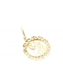 medalik złoty  masa 1.220g. 585