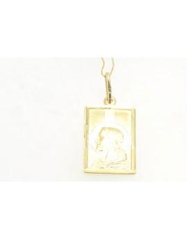 medalik z żółtego złota Pan Jezus masa 2.600gr. 585