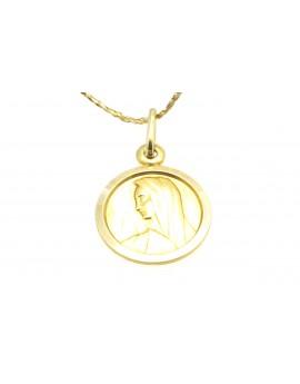 medalik złoty masa 0.960g. 585