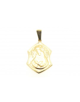medalik z żółtego złota  masa 3.500g. 585