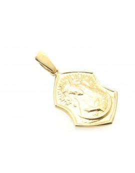 medalik z żółtego złota  masa 3.900g. 585