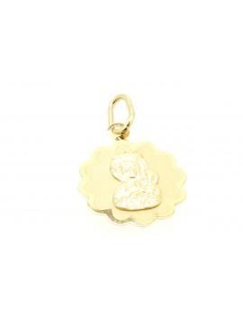 medalik złoty masa 0.700g. 585