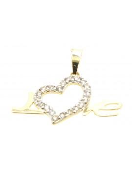 wisiorek  złoty  LOVE serce 0.950g. 585