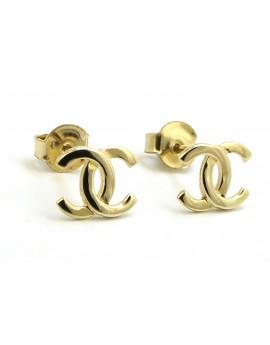 Kolczyki złote celebrytki Chanelki 1.000g. 585