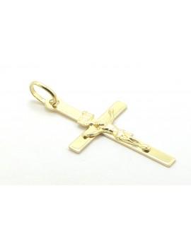 krzyżyk złoty z Panem Jezusem 1.000g. 585