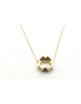 naszyjnik złoty celebrytka koniczynka 1.450g. 585  40-42cm.