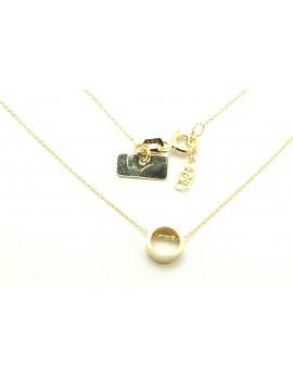 naszyjnik złoty celebrytka kółko 1.500g. 585  40-42cm.