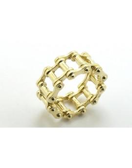 Obrączka sygnet złoty motocyklisty łańcuch 10.700g. 585