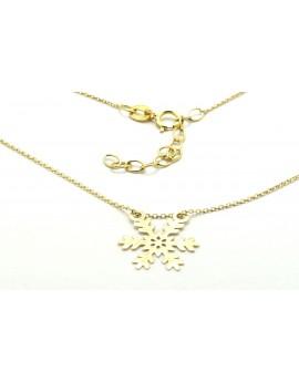 naszyjnik złoty celebrytka śnieżynka 1.050g. 585  42-45cm.