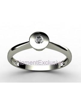Pierścionek z białego złota z brylantem 0.06ct.H/VS z certyfikatem autentyczności masa 1.600g.próba 585