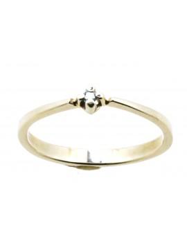 Pierścionek z białego złota z brylantem 0,03ct.barwa niebieska masa 1.450gr. 585 z certyfikatem.
