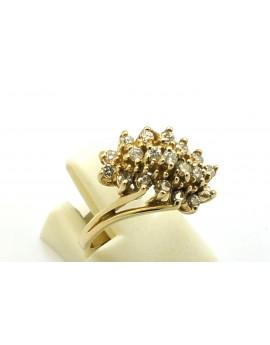 Pierścionek złoty z brylantami 0.55ct. I/SI masa 5.000g. 585 z certyfikatem.