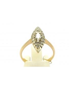 Pierścionek złoty z diamentami 0.39ct. H/SI-P masa 4.100g. 500 z certyfikatem.
