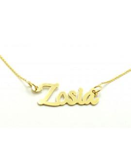 naszyjnik złoty imię ZOSIA 1.350g. 585 42-45cm.