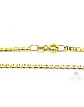 łańcuszek złoty pancerka z poprzeczką masa 4.700g. 585 50cm.