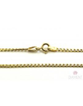 łańcuszek złoty pancerka masa 5.150g. 585 50cm.
