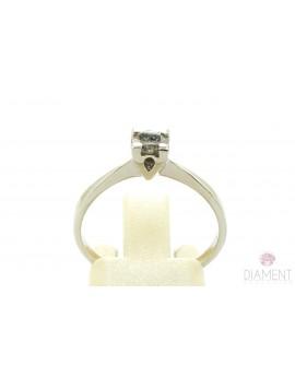 Pierścionek z białego złota z brylantem 0.35ct. M/P2 2.000g. 585 z certyfikatem kolekcja pieprz i sól