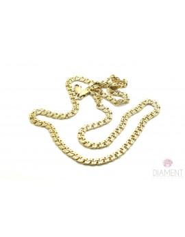 łańcuszek złoty galibardka masa 15.400g. 585 45cm.