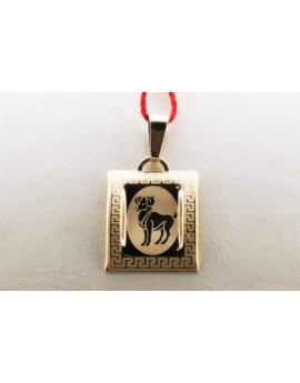 złoty znak zodiaku baran masa 0.710g. 333