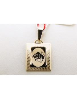 złoty znak zodiaku byk masa 0.710g. 333