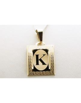złoty wisiorek literka K masa 0.700g. 333