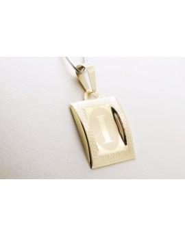 złoty wisiorek literka I masa 0.750g. 333