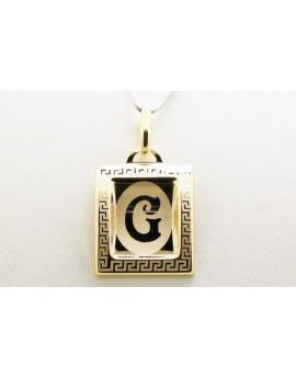 złoty wisiorek literka G masa 0.750g. 333