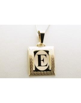 złoty wisiorek literka E masa 0.700g. 333