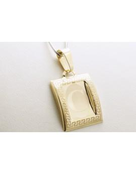 złoty wisiorek literka C masa 0.700-0.900g. 333