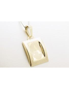 złoty wisiorek literka A masa 0.700g. 333