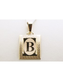 złoty wisiorek literka B masa 0.750g. 333