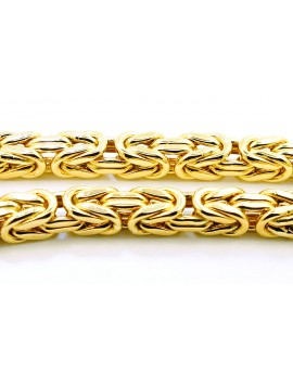 łańcuszek złoty KRÓLEWSKI masa 54.400gr. 585 61cm.
