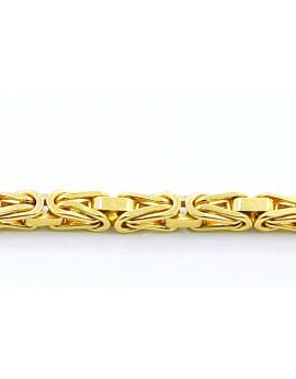 bransoletka z żółtego złota wzór KRÓLEWSKI masa 7.150gr. 750