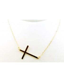 złoty naszyjnik gwiazd celebrytka krzyż 1.000g. 585 dł.regulowana 42-45cm.