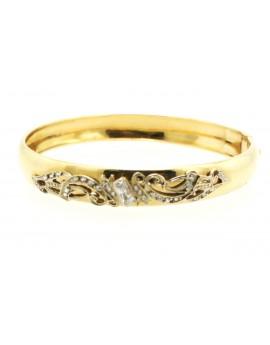 bransoletka złota z cyrkoniami masa 12.400g. 585