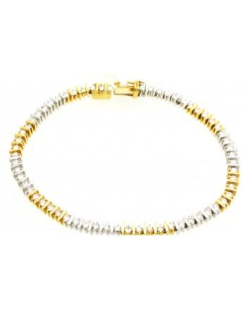Bransoletka złota z brylantami 2.50ct.H/VS z certyfikatem masa 16.200g. 750