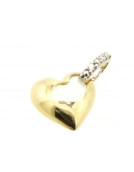 wisiorek złoty serce z cyrkoniami masa 0.850g. 585