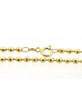 łańcuszek złoty kulki masa 11.250g. 585 45cm.