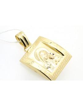 medalik złoty  masa 2.290g. 585