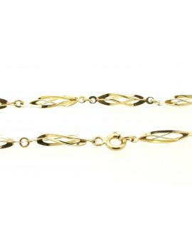 bransoletka złota masa 1,950g. 585 18.5cm.