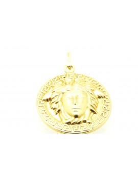 wisiorek złoty dwustronny masa 3.520g. 585