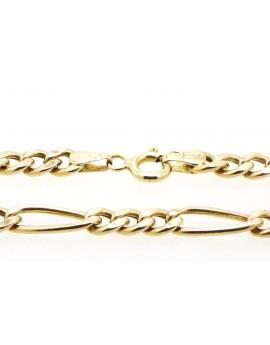 łańcuszek złoty Cartie masa 10.280g. 585 56,7cm.