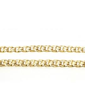 łańcuszek złoty galibardka frank masa 15.500gr. 585 45cm.