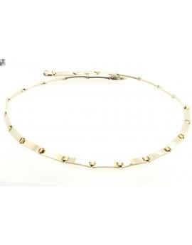 łańcuszek z białego i żółtego złoty masa 63.150gr. 585 54cm.