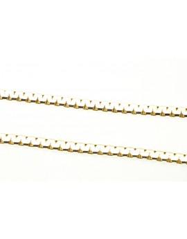 łańcuszek złoty masa 3.940g. 585 43cm.