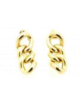 kolczyki złote łańcuch pancerka masa 4.250g. 500